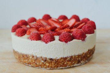 zero waste cheesecake s malinami a jahodami